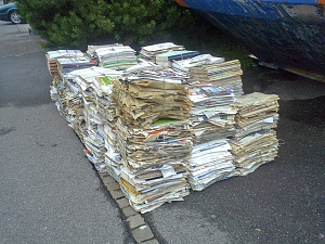 Altpapier Straßensammlung