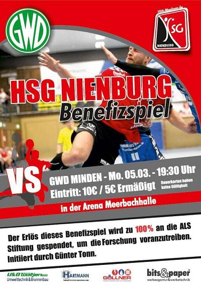 Benefizspiel: HSG Nienburg - GWD Minden (05.03 -19:30 Uhr)