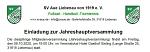 Einladung JHV 2020