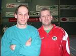 Handballer Volker Kauffeldt (links) und 'Öetschi' Linderkamp machten gemeinsame Sache