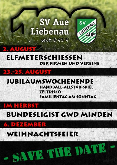 Save the date©SV Aue Liebenau von 1919 e.V.